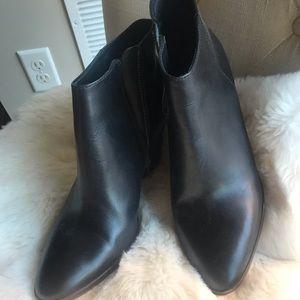 J Crew black booties